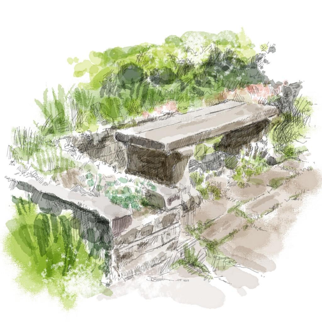 Rossett - stone bench