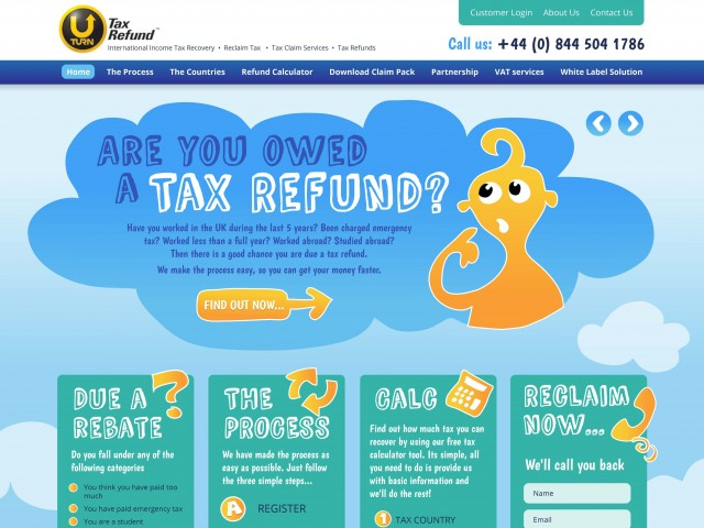 Tax Refund site design