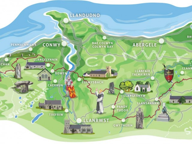 Illustrated Map of the Pilgrim's Way