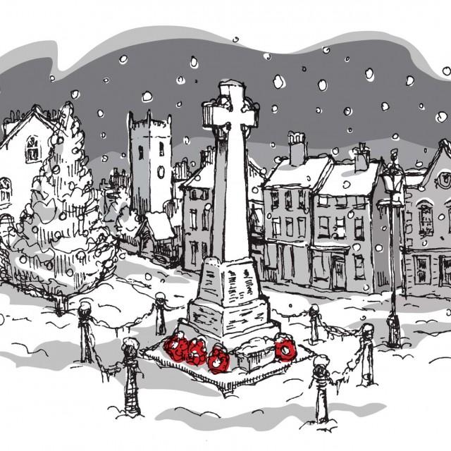 Christmas Card Snow Scene