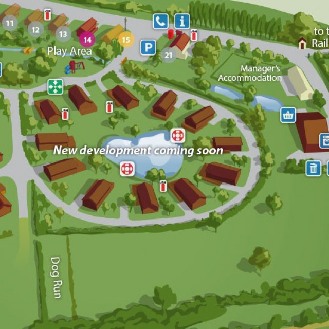 Lodge Park Site Map