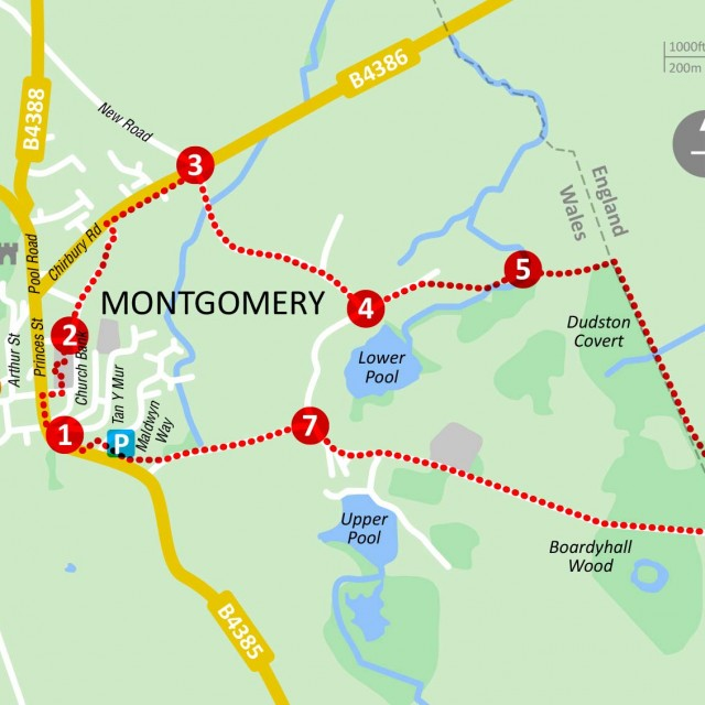 Offa's Dyke Walk maps