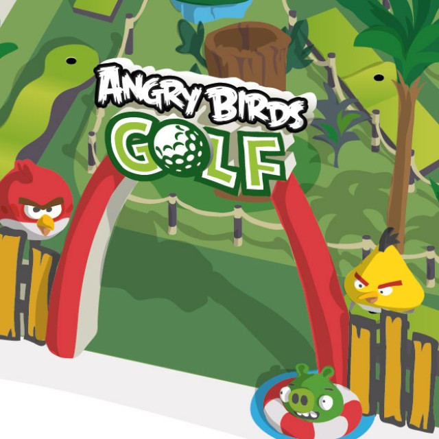 Angry Birds Mini Golf layout illustration