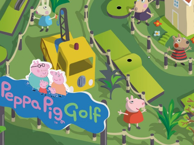 Peppa Pig Golf Course layout illustration