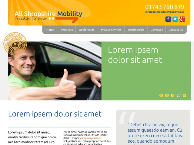 Motability website design