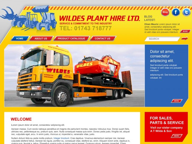 Plant hire web design