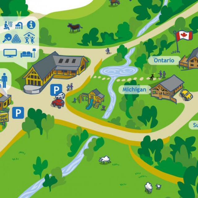 Log Cabin Holiday Park Site Map