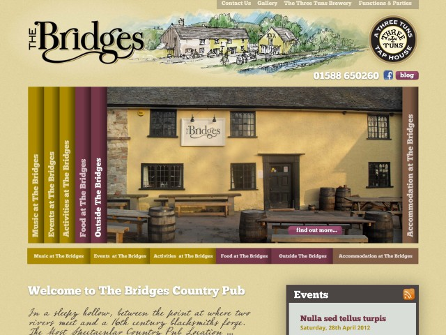 Shropshire pub website