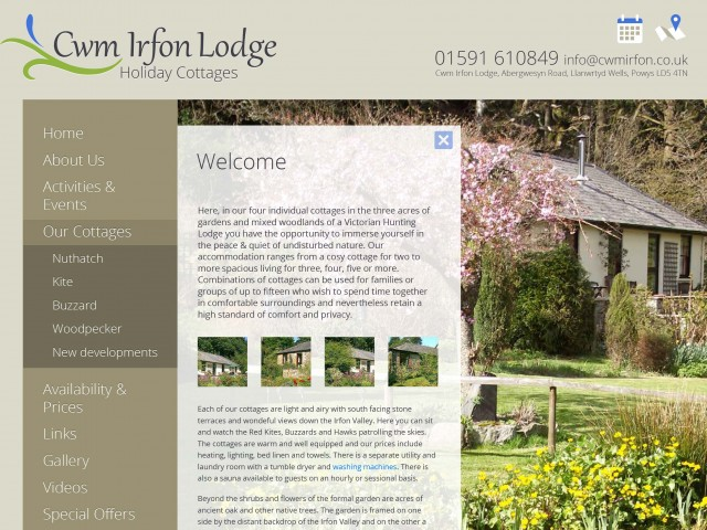 Welsh Holiday Cottage website design