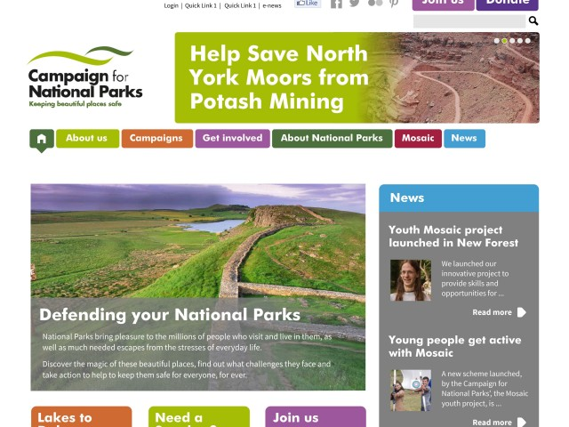 National Parks website design