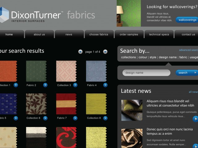Fabric Supplier Website Design