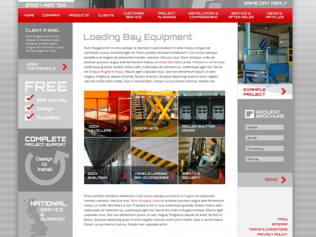 Industrial Equipment Design for Website