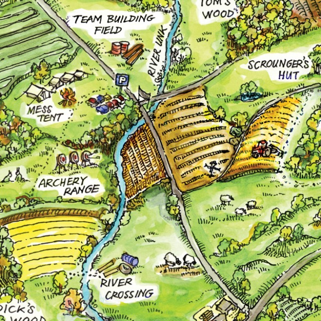 Watercolour Outdoor Centre Site Map