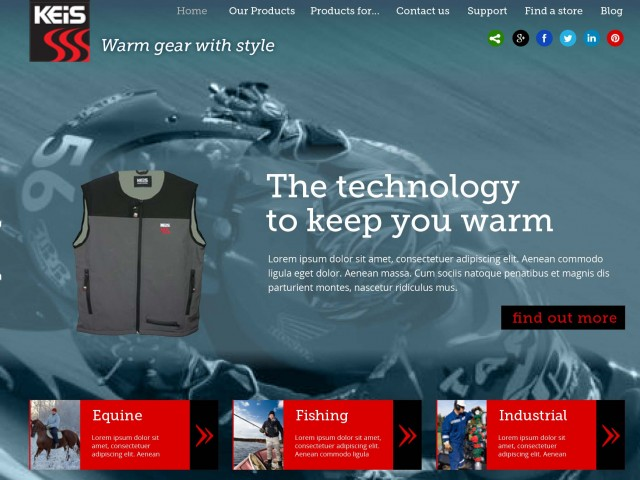 Heated Apparel website design