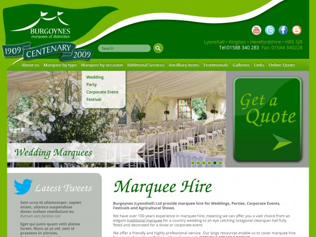 Event Marquee website
