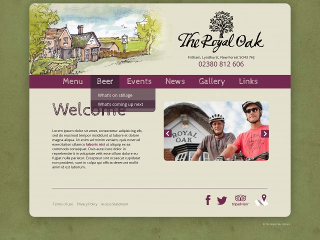 New Forest Pub web design
