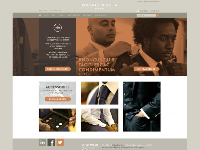Savile Row Tailor website