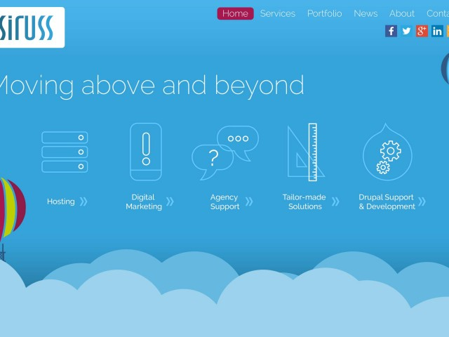 Cloud Parallax site design