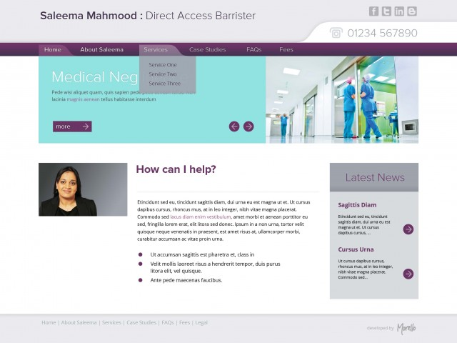 Medical Barrister web design