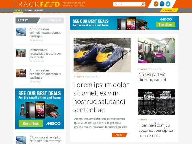 News Aggregation Site Design