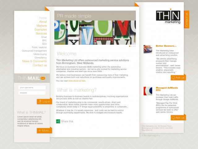 Design for a Marketing Firm Website