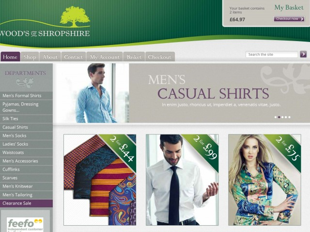 Classic Shirt e-commerce site design
