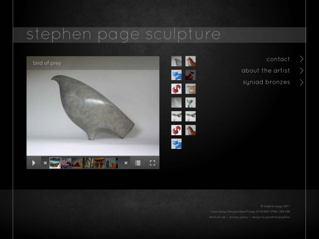 Sculptor Website Design