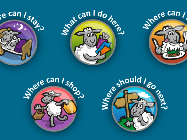 Sheep Tourist Icon Set