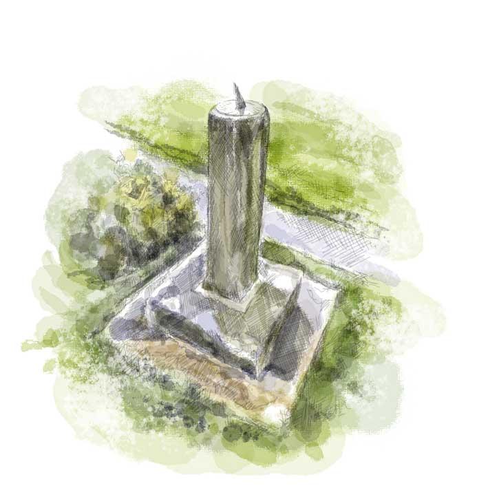 Erbistock---sundial