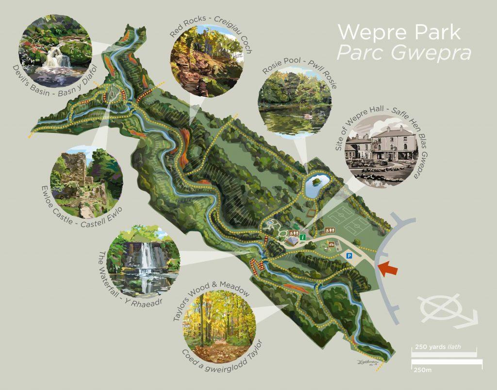 Wepre-Park-Map