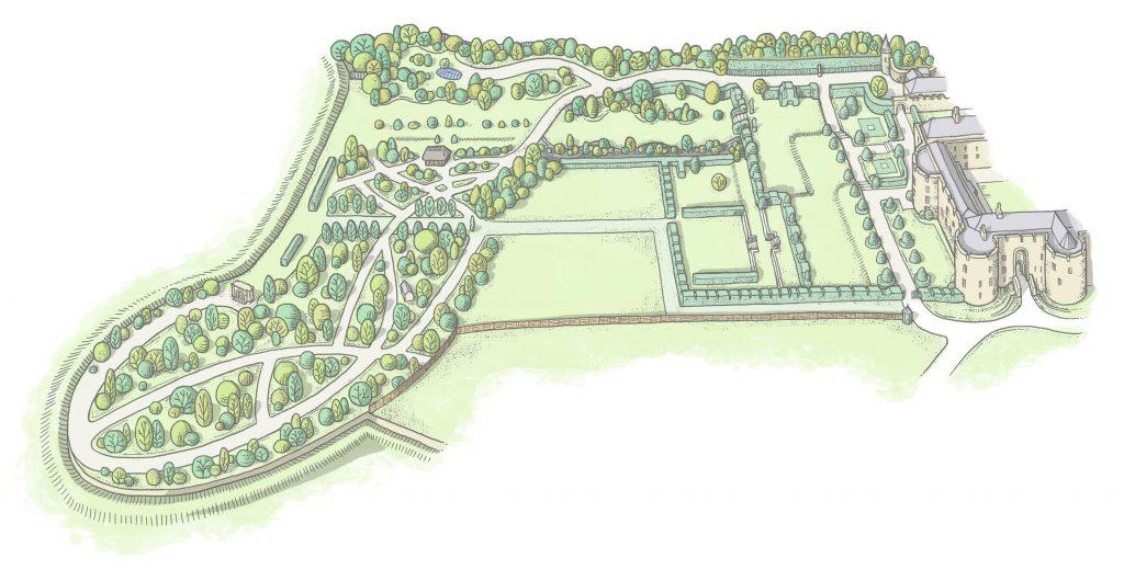 Chirk-Castle-garden-map-3000
