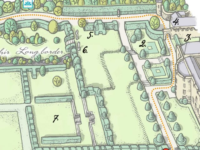 Castle Gardens illustrated map