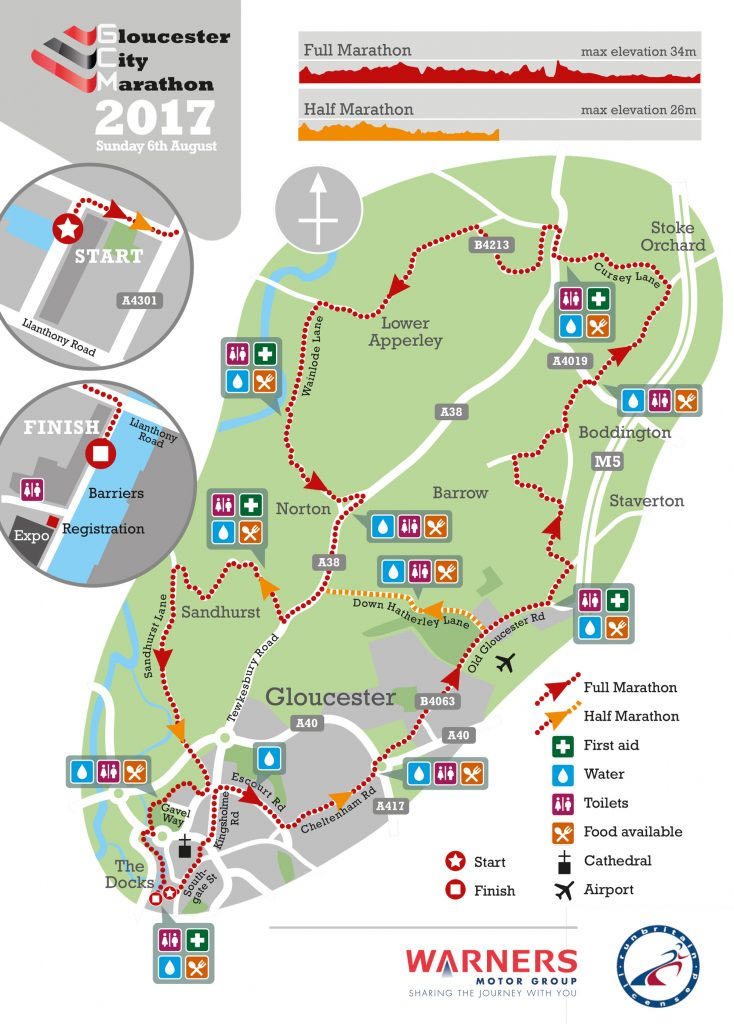 Gloucester-Marathon-map