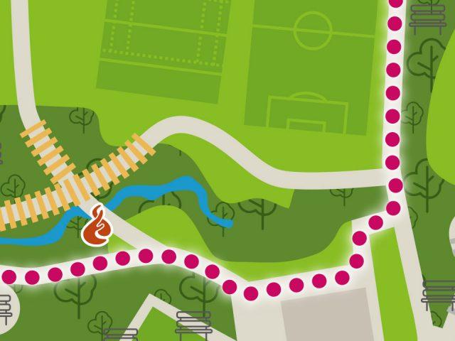 Set of park maps