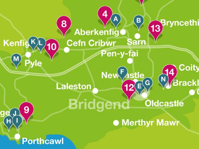 Wellbeing walks overview map